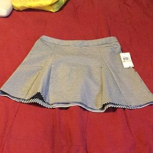 NWT Designer striped skirt